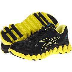 Reebok ZigTech Shark Pursuit360 (Black/Solar Green/Far Out Blue) Men's Running Shoes