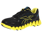 Reebok ZigTech Shark Pursuit360 (Black/Solar Green/Far Out Blue) Men's Running Shoes