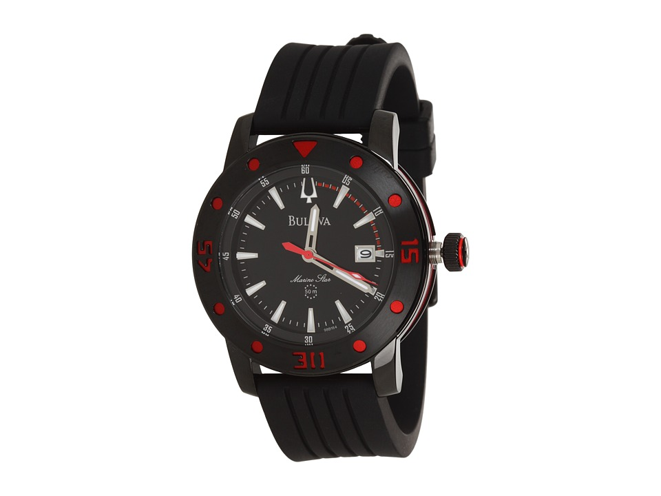 Bulova - Mens Marine Star - 98B164 (Black/Red) Analog Watches