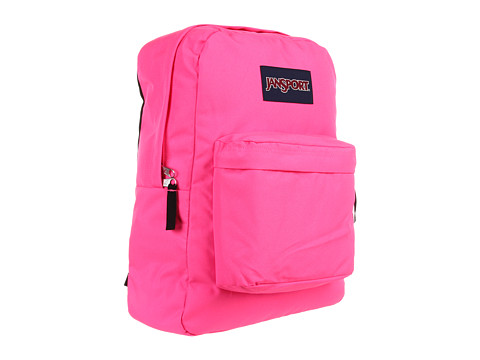 JanSport - Superbreak (Fluorescent Pink) Backpack Bags