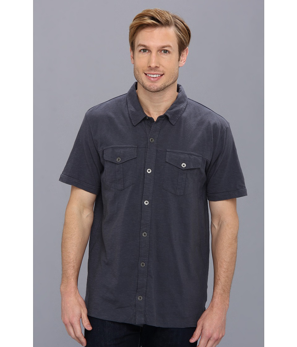 Prana - Hayes Button Down (Coal) Men's Short Sleeve Button Up