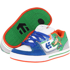 SALE! $16.99 - Save $40 on etnies Kids Disney Ronin (Toddler Little Kid Big Kid) (White Blue Green) Footwear - 70.19% OFF $57.00