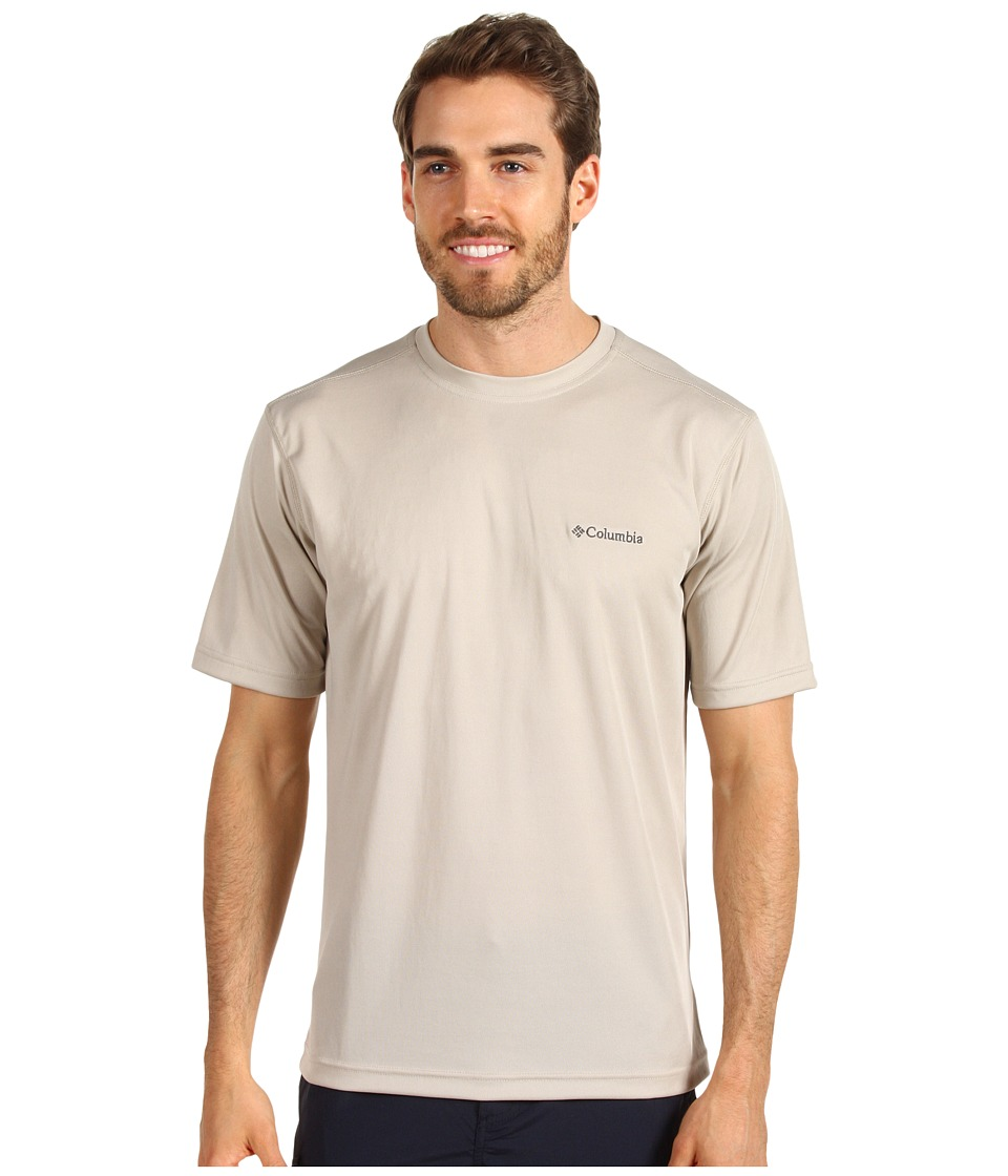 Columbia Meeker Peaktm Short Sleeve Crew (Fossil) Men