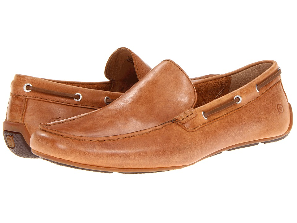 Born - Marcus (Scott/Tan Full-Grain Leather) Men's Slip on Shoes