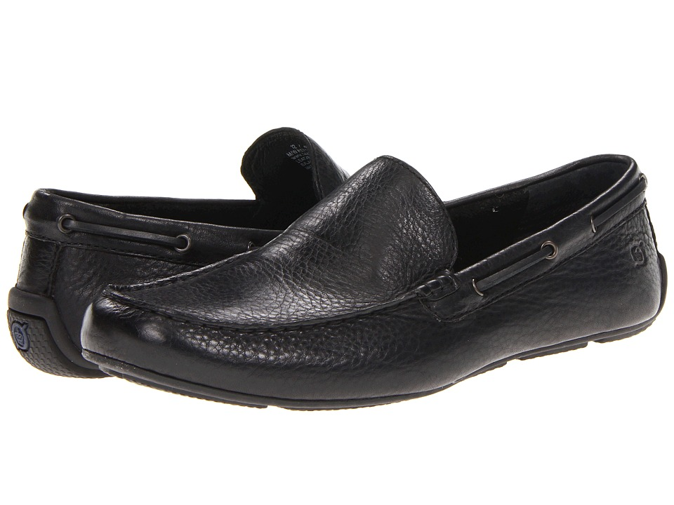 Born - Marcus (Black Full-Grain Leather) Men's Slip on Shoes