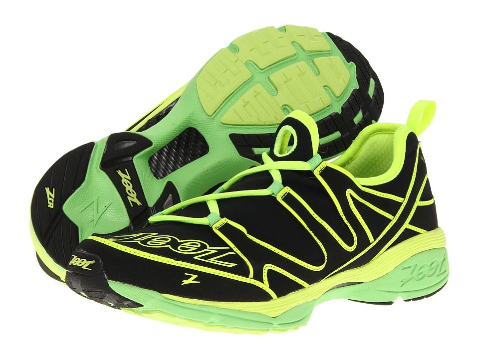 Zoot Sports - Ultra Kalani 3.0 (Black/Safety Yellow/Green Flash) Men's Running Shoes