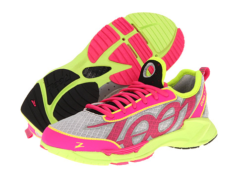 Zoot Sports - Ovwa 2.0 (Silver/Pink Glow/Safety Yellow) Women's Running Shoes