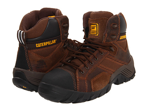 Caterpillar - Argon Hi (Dark Brown) Women's Work Lace-up Boots