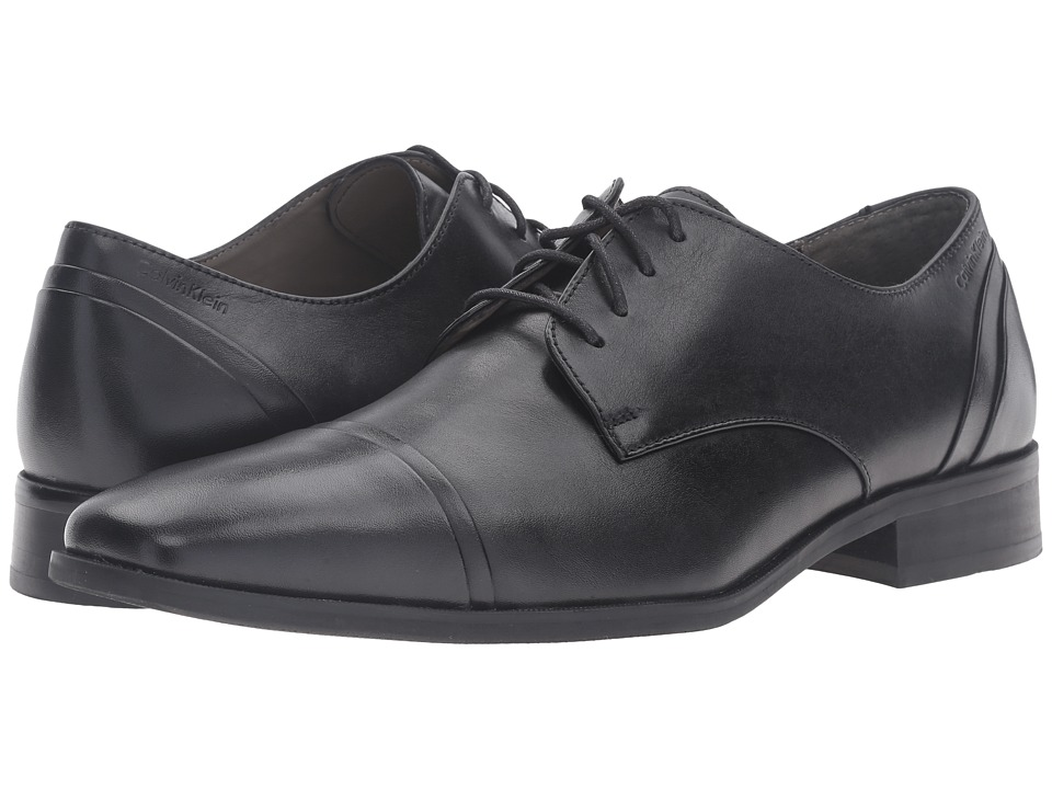 Calvin Klein - Griff (Black) Men's Dress Flat Shoes