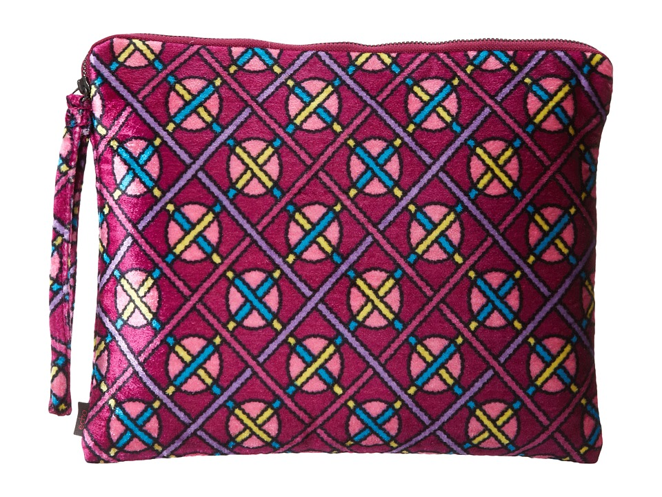 Echo Design - Vintage Geo Dot Velvet Tech Pouch (Regal Plum) Computer Bags