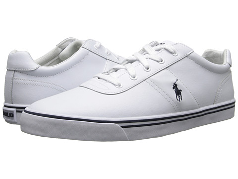 Polo Ralph Lauren - Hanford Leather (White Leather) Men's Lace up casual Shoes