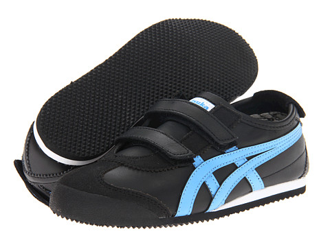 Onitsuka Tiger Kids by Asics - Mexico 66 Baja PS (Toddler/Little Kid/Big Kid) (Black/Blue) Kids Shoes