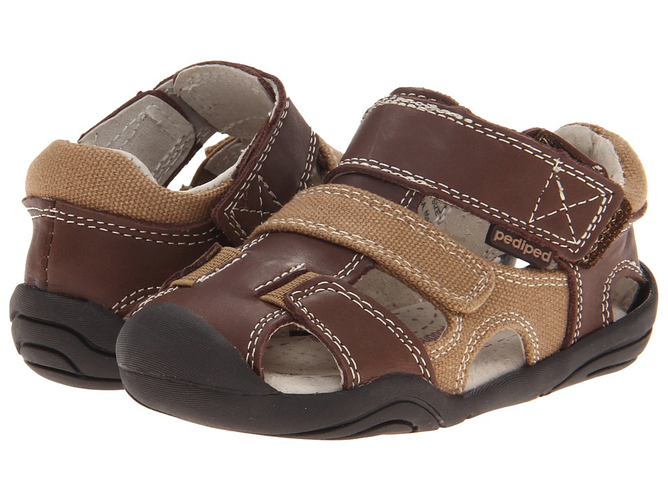pediped - Joshua Grip 'n' Go (Toddler) (Brown) Boys Shoes