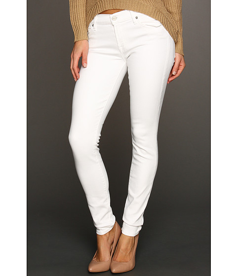 7 For All Mankind - The Skinny Slim Illusion (Stark White) Women