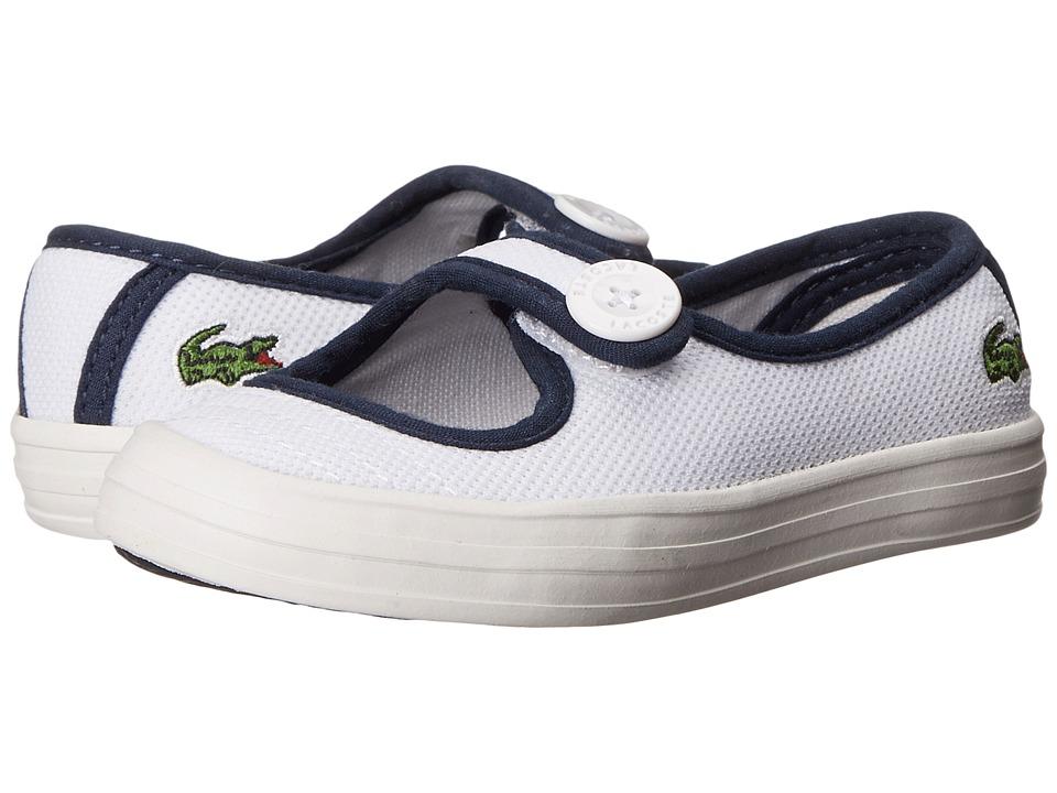 Lacoste Kids Borelycrwb (Toddler/Little Kid) (Purple/Light Grey) Kids Shoes