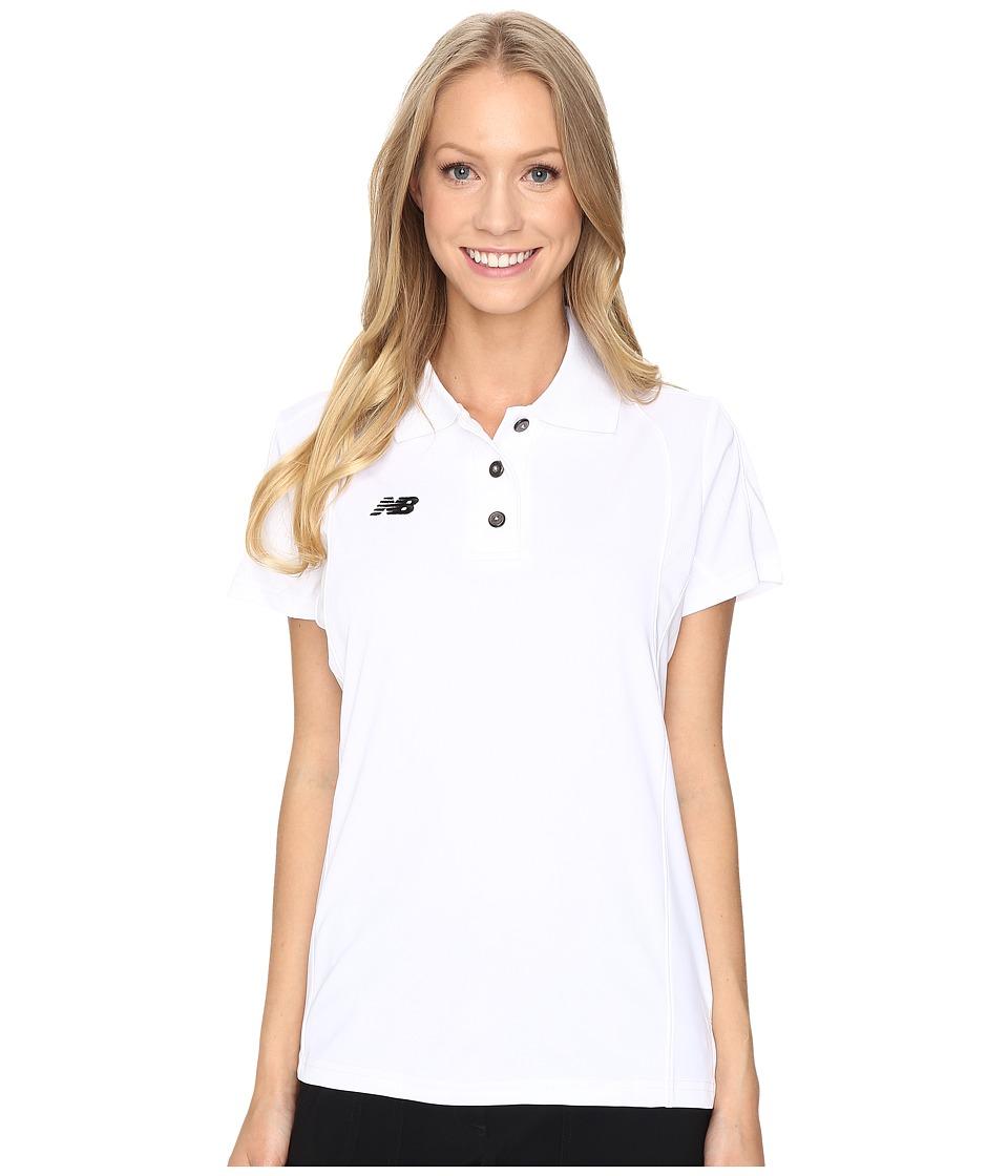 New Balance - S/S Polo (White) Women's Clothing