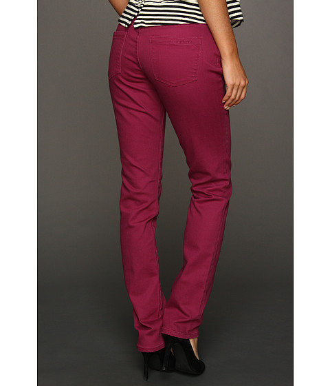 Jag Jeans Jane Mid-Rise Slim Colored Denim (Dark Berry) Women's Jeans