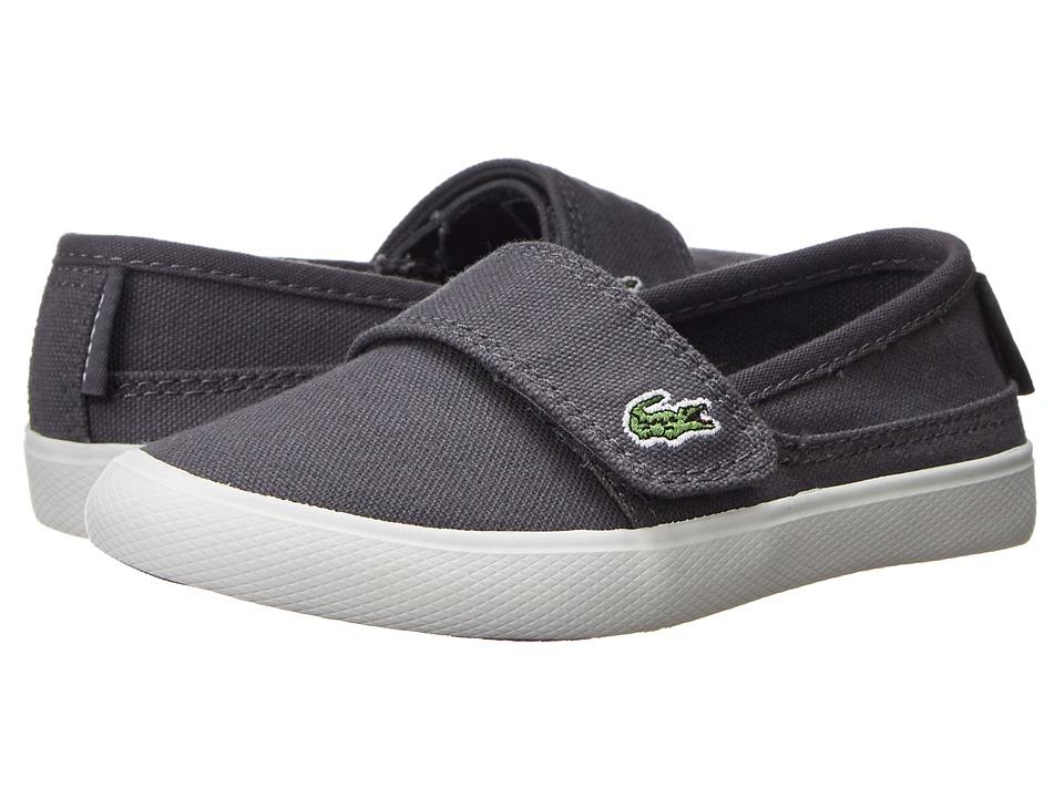 Lacoste Kids - Maricejawb (Toddler/Little Kid) (Dark Grey/Dark Grey) Kids Shoes