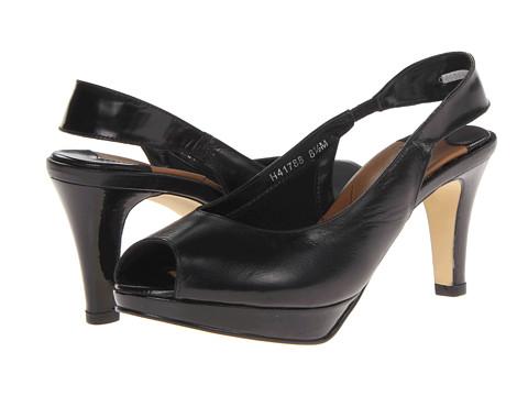 Ros Hommerson Plato (Black Kid/Patent) Women's Toe Open Shoes