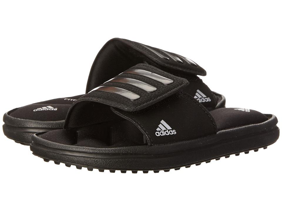 adidas Kids - Zeitfrei Slide (Toddler/Little Kid/Big Kid) (Black/Metallic Silver) Kids Shoes