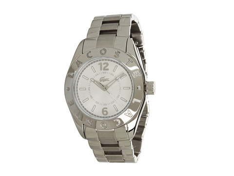 Lacoste - 2000712 Biarritz Watch (Silver/Silver) Analog Watches