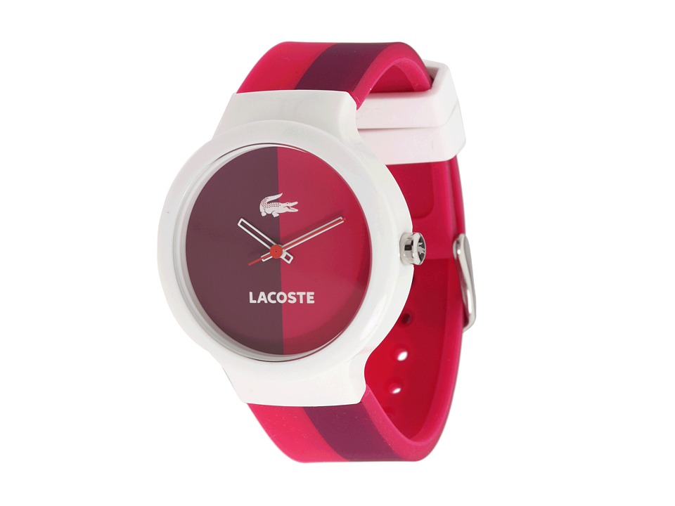 Lacoste - Goa Silicone Watch 2020036 (Pink) Analog Watches