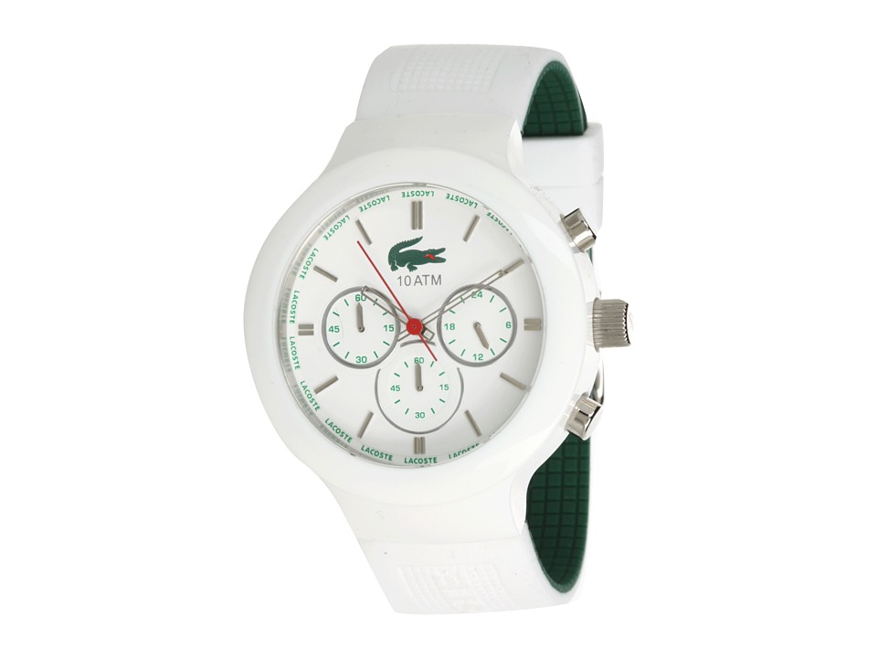 Lacoste - 2010653 Borneo Chronograph Watch (White) Analog Watches