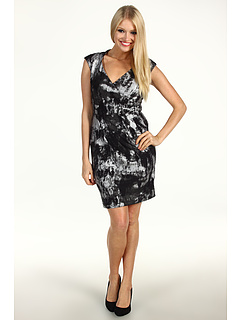 SALE! $27.99 - Save $70 on Ellen Tracy Metallic Jersey C S Dress (Black Silver) Apparel - 71.44% OFF $98.00