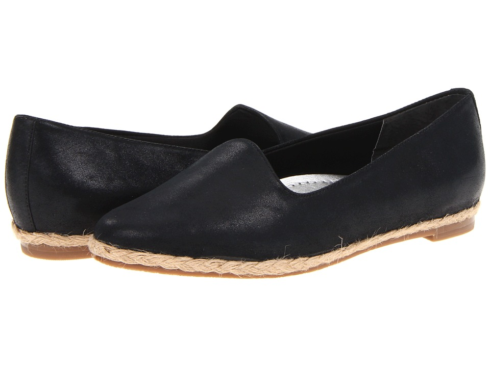 Trotters - Lizpadrille (Black Leather) Women