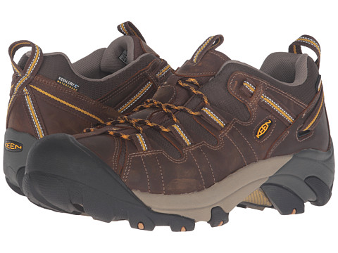 Keen - Targhee II (Cascade Brown/Golden Yellow) Men's Waterproof Boots