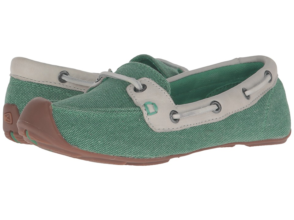 Keen - Catalina Canvas Boat Shoe (Greenbriar/Whisper White) Women's Slip on Shoes