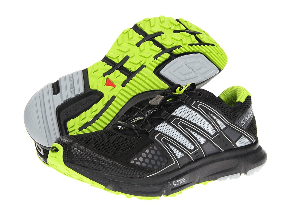Salomon - XR Mission (Black/Light Onix/Organic Green) Men's Shoes