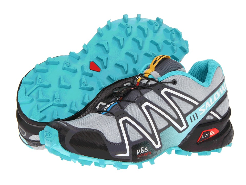 Salomon - Speedcross 3 (Light Onix/Dark Cloud/Dark Azure Blue) Women's Running Shoes