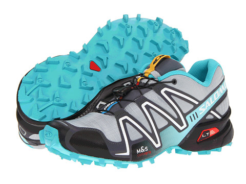 Salomon - Speedcross 3 (Light Onix/Dark Cloud/Dark Azure Blue) Women