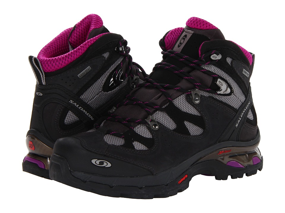 Salomon - Comet 3D GTX (Pewter/Asphalt/Anemone Purple) Women's Shoes