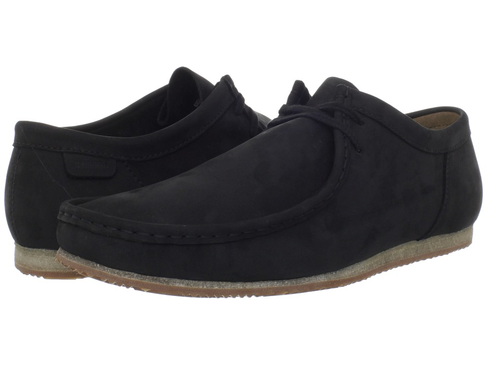 Clarks - Wallabee Run (Black Nubuck) Men's Lace up casual Shoes