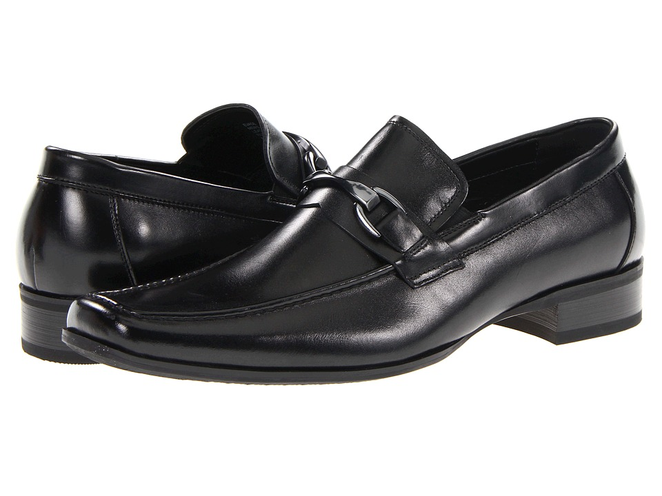 Steve Madden - Evade (Black Leather) Men's Slip-on Dress Shoes