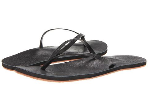 Reef - Leather Uptown (Black) Women's Sandals