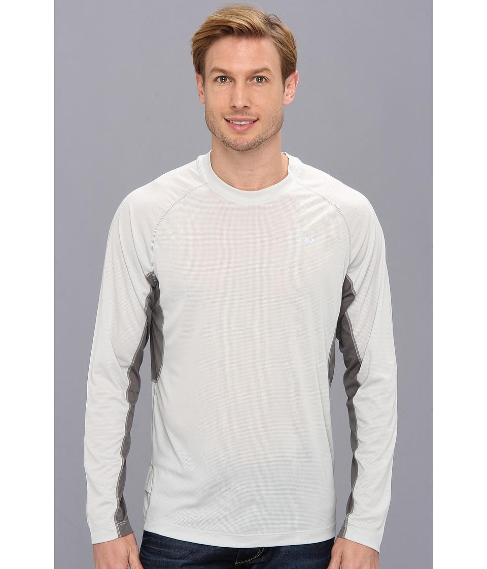 Outdoor Research - Echo L/S Duo Tee (Alloy/Pewter) Men's Long Sleeve Pullover
