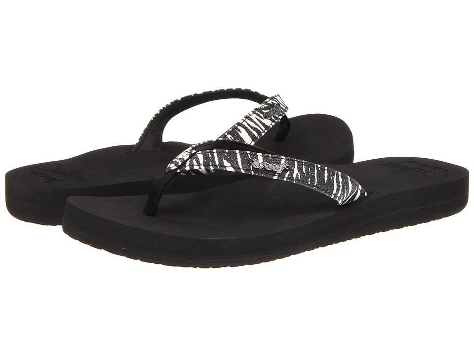 Reef - Star Cushion Luxe (Zebra/Glitter) Women's Sandals