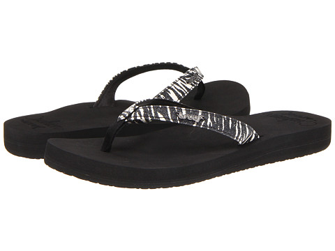 Reef - Star Cushion Luxe (Zebra/Glitter) Women's Sandals
