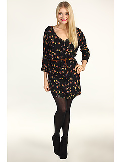 SALE! $29.4 - Save $69 on DEPT Mini Floral Viscose Dress (Black) Apparel - 70.00% OFF $98.00