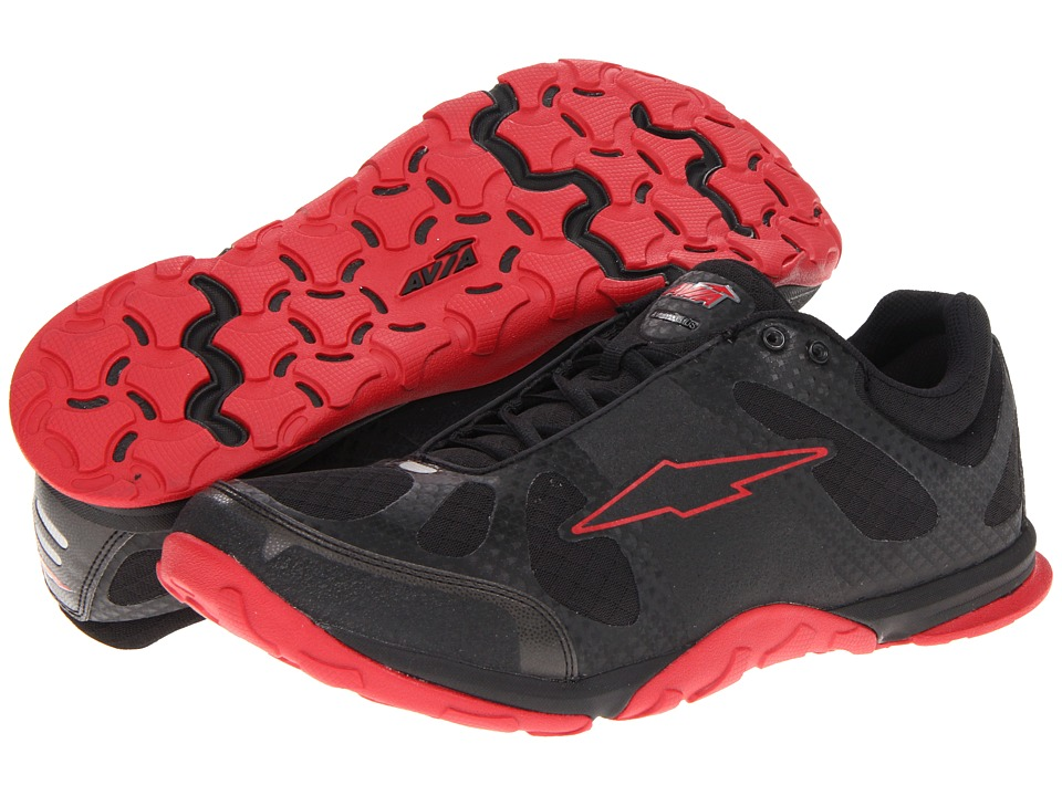 Avia - Avi-Maximus - A1626M (Black/Red Flag) Men's Cross Training Shoes