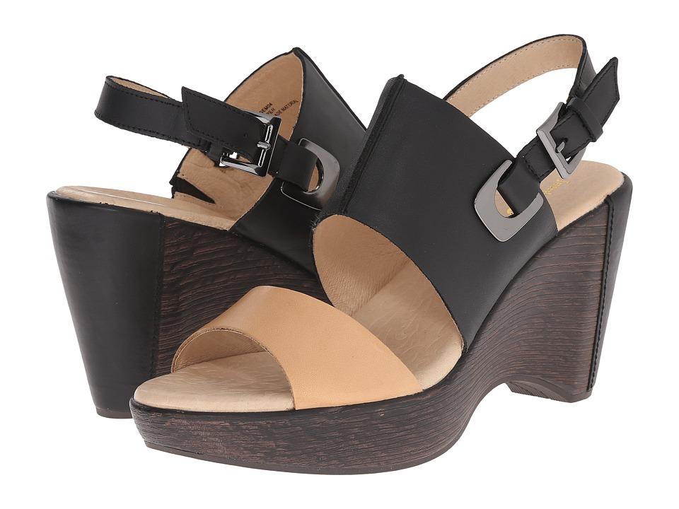 Jambu - Gem (Black/Tan) Women's Wedge Shoes