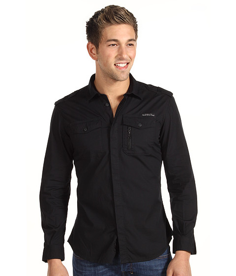 Diesel - Siranella L/S Shirt (Black) Men's Long Sleeve Button Up