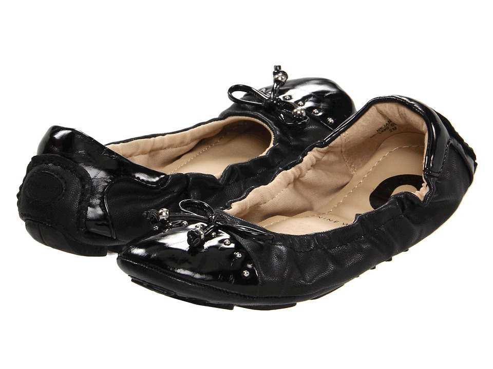Nine West Kids - Jana (Little Kid/Big Kid) (Black Smooth) Girls Shoes