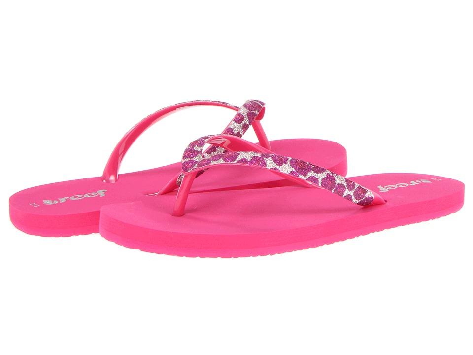 Reef Kids - Little Stargazer Luxe (Toddler/Little Kid/Big Kid) (Hot Pink/Pink Leopard) Girls Shoes