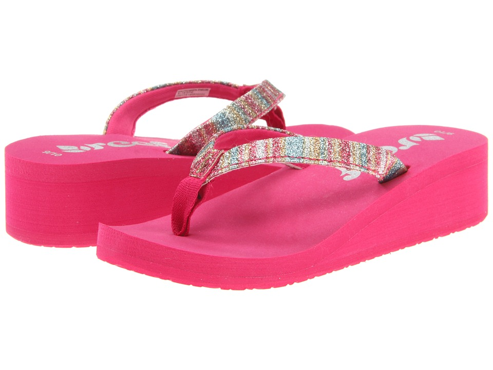 Reef Kids - Little Krystal Star Luxe (Toddler/Little Kid/Big Kid) (Hot Pink/Stripes) Girls Shoes