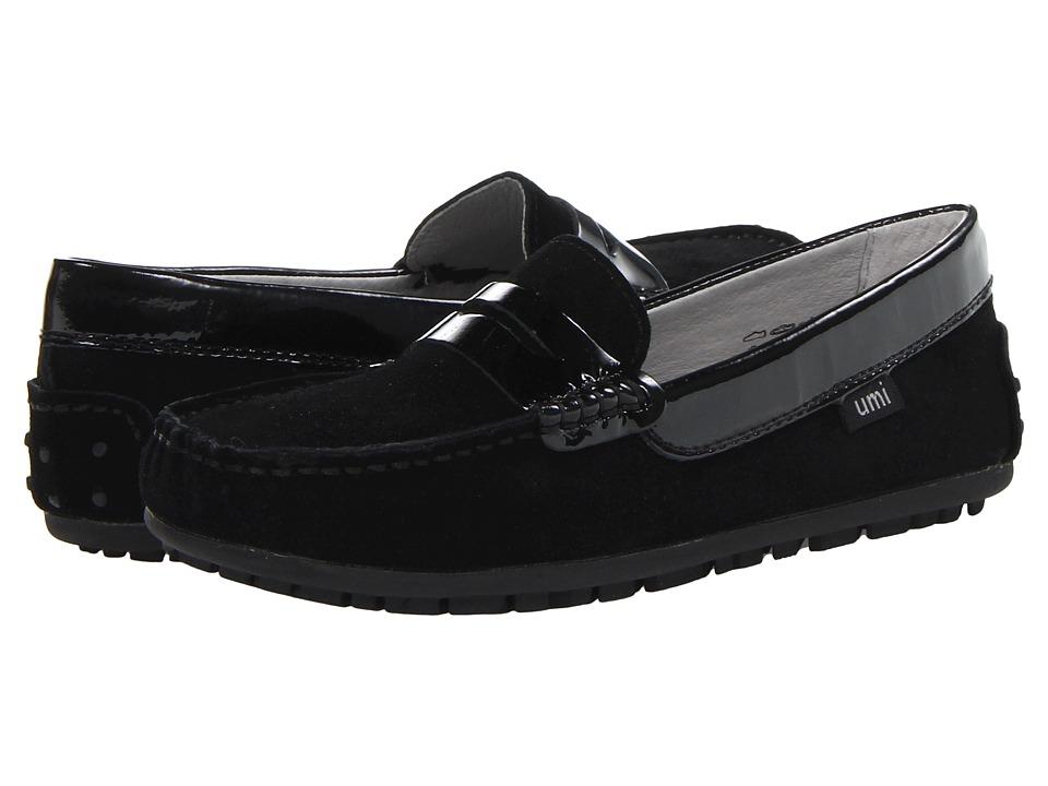 Umi Kids - Morie II (Little Kid/Big Kid) (Black Suede) Girls Shoes