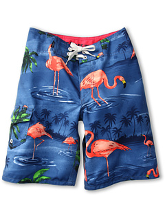 SALE! $14.99 - Save $30 on Vans Kids Off The Wall Boardshort (Big Kids) (Blue Flamingo) Apparel - 66.31% OFF $44.50